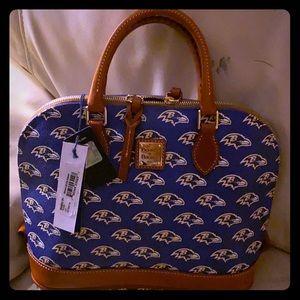 NFL Raven Dooney Bourke Satchel Handbag